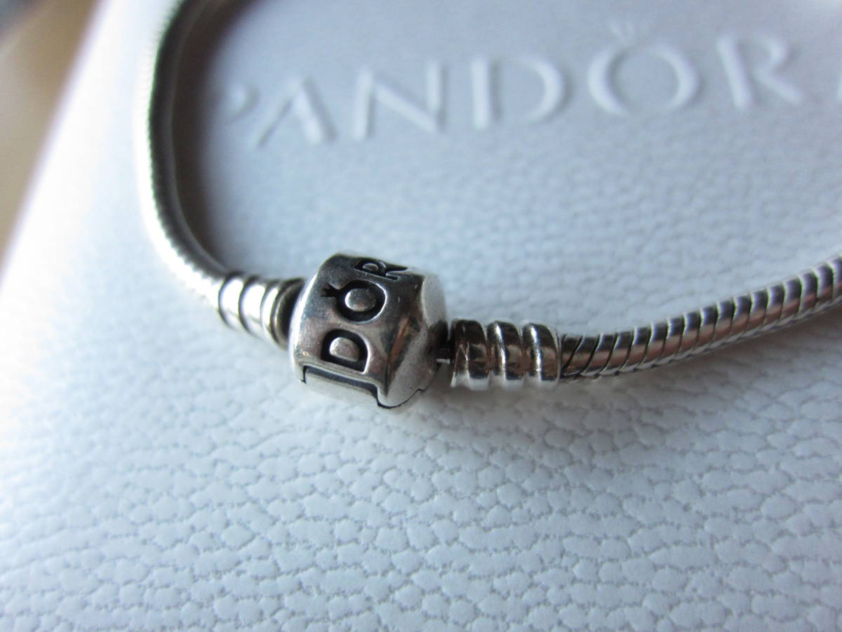 PANDORA(パンドラ) Moments Silver Clasp ブレスレット シルバー 19Cm 超美品_画像3