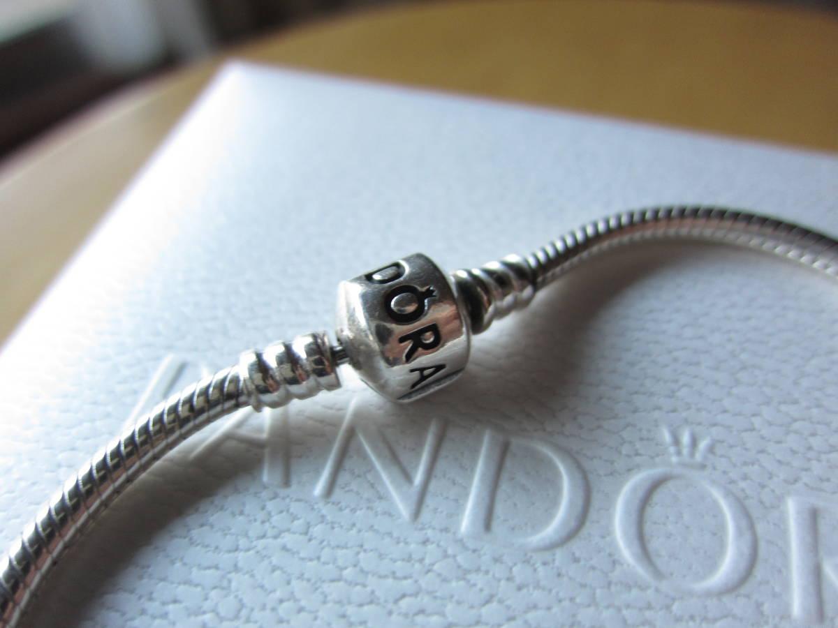 PANDORA(パンドラ) Moments Silver Clasp ブレスレット シルバー 19Cm 超美品_画像4