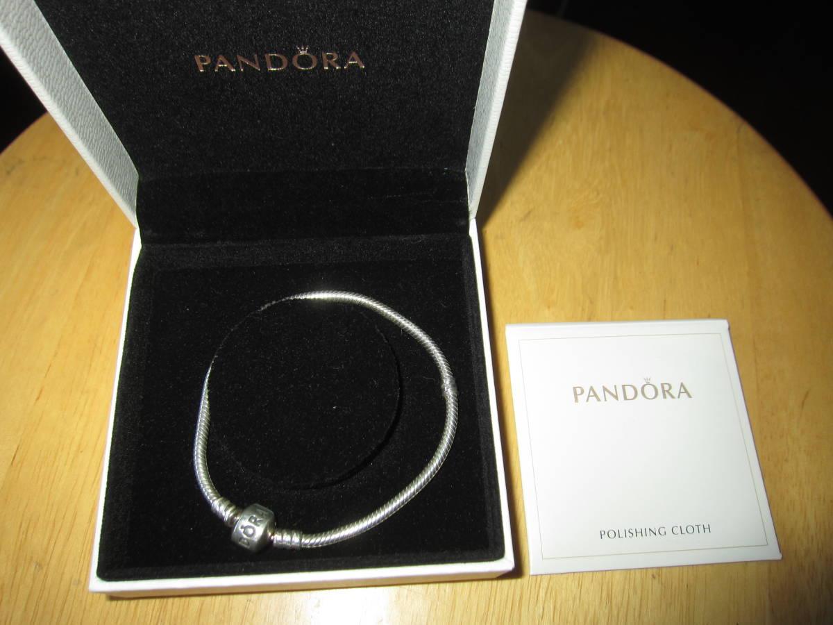 PANDORA(パンドラ) Moments Silver Clasp ブレスレット シルバー 19Cm 超美品_画像6
