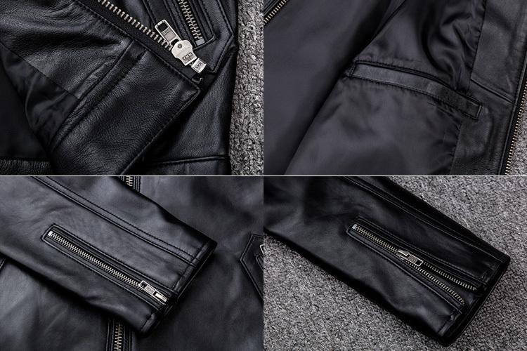 サイズM ライダース バイクジャケット メンズ レザージャケット 本革 ミリタリージャケット 羊革 革ジャン ライディング バイクウェア_画像6