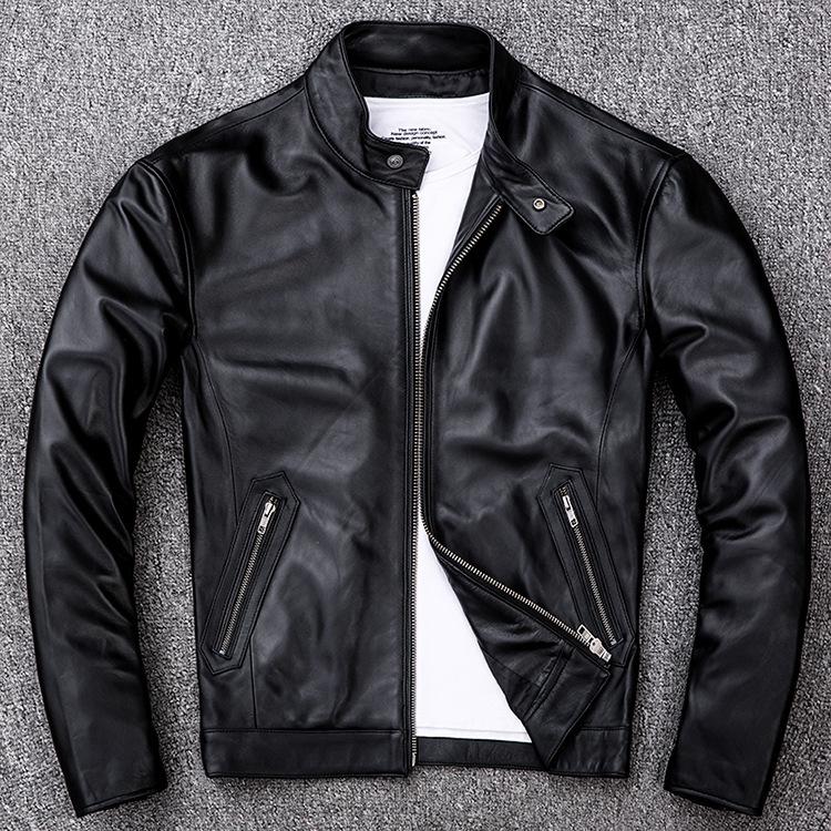 サイズM ライダース バイクジャケット メンズ レザージャケット 本革 ミリタリージャケット 羊革 革ジャン ライディング バイクウェア