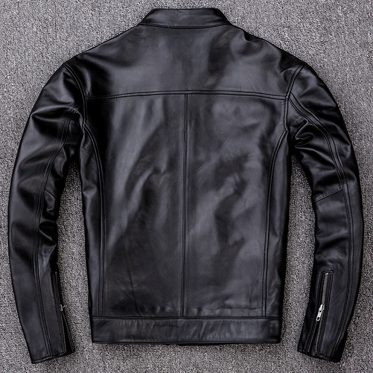 サイズM ライダース バイクジャケット メンズ レザージャケット 本革 ミリタリージャケット 羊革 革ジャン ライディング バイクウェア_画像4