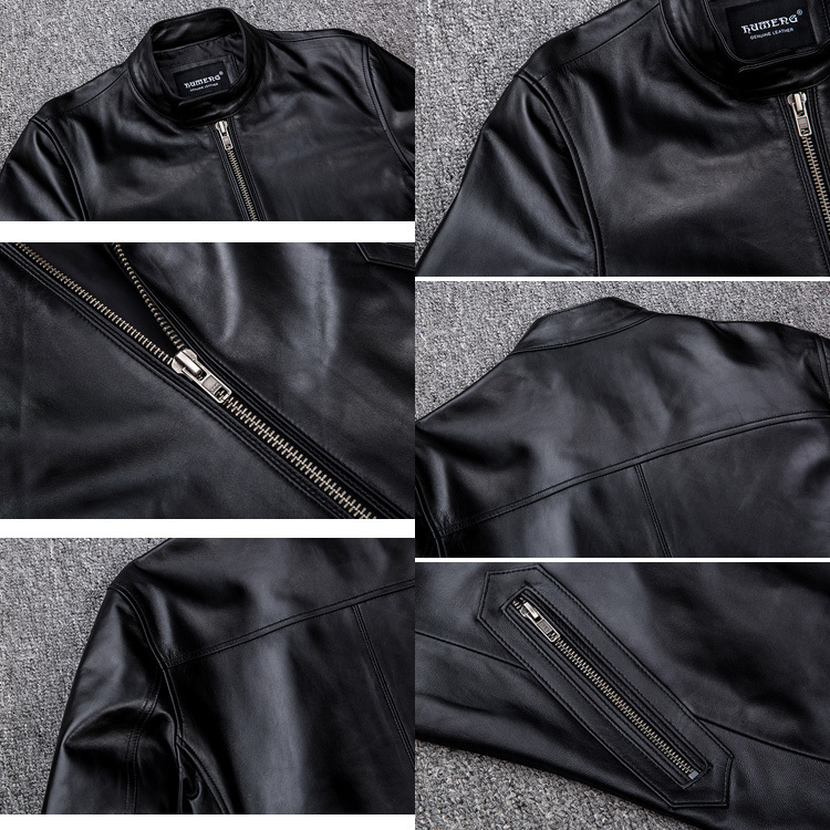 サイズM ライダース バイクジャケット メンズ レザージャケット 本革 ミリタリージャケット 羊革 革ジャン ライディング バイクウェア_画像5