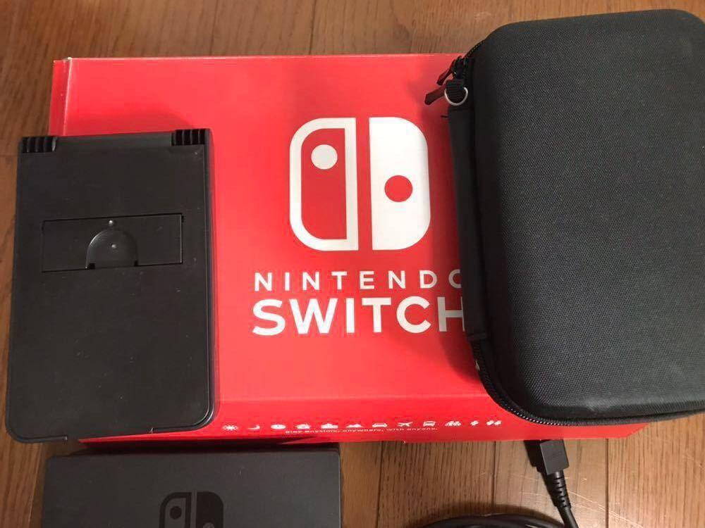 Nintendo Switch 本体 (ニンテンドースイッチ)グレー 中古品 +スタンド・カバー_画像3