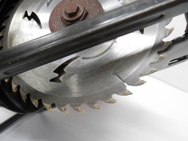HITACHI 日立 ブレーキ付 丸のこ 鋸 FC6B 木工用 超硬 最大切込55mm _画像3