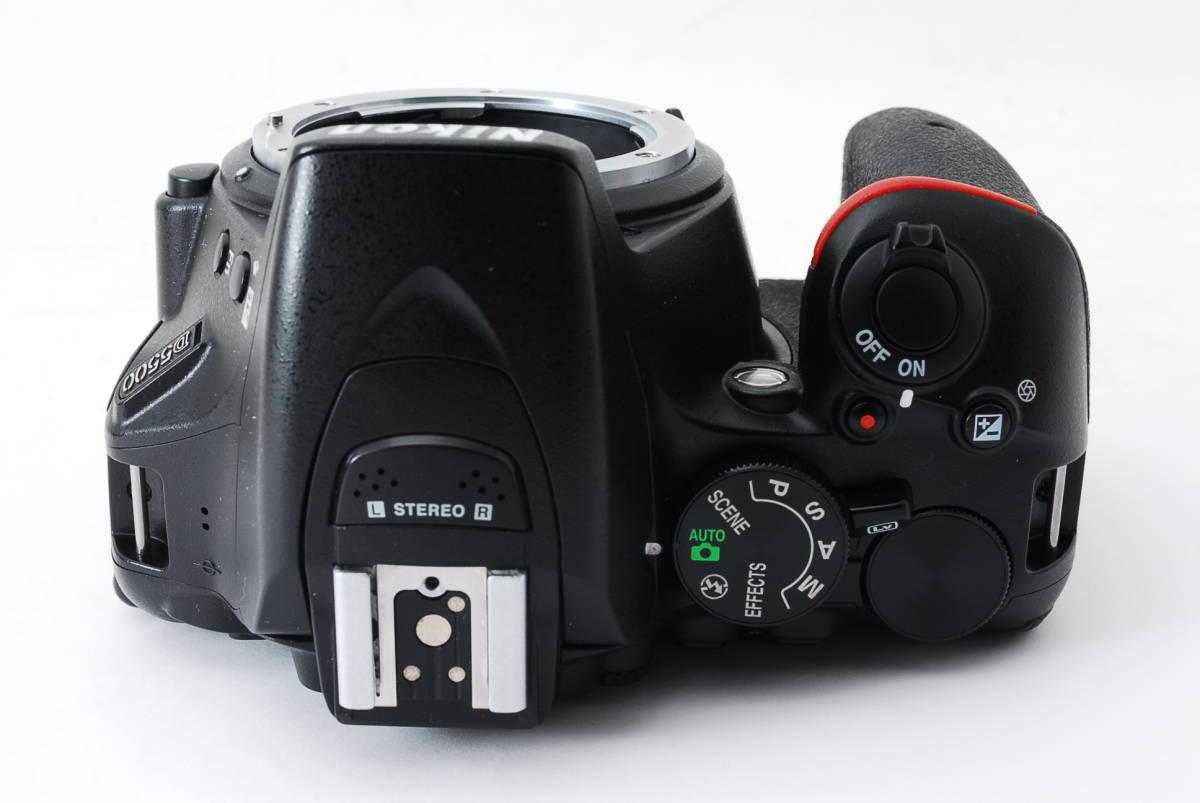 【動作確認済/超美品】 ニコン Nikon D5500 ボディ 三脚 収納バック MT0213_画像6