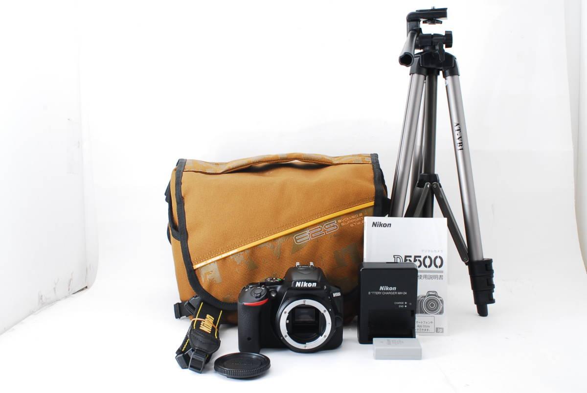 【動作確認済/超美品】 ニコン Nikon D5500 ボディ 三脚 収納バック MT0213