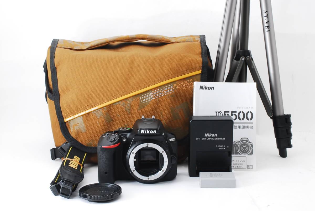 【動作確認済/超美品】 ニコン Nikon D5500 ボディ 三脚 収納バック MT0213_画像2