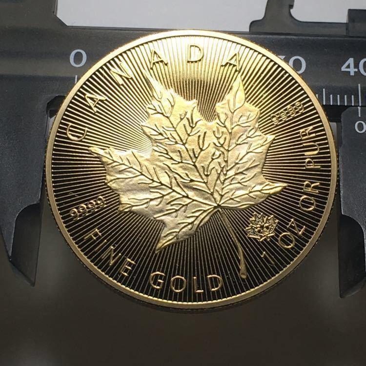 カナダ メイプルリーフ 記念金貨 1oz 1オンス 2コイン 2015年 コレクション メダル 約29グラム_画像4