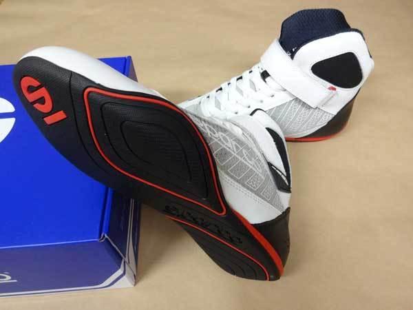最安値セール!!スパルコレーシングシューズ新品■レーシングカート SPARCO OMEGA KB-6 Kart Shoes 白■ホワイト_画像2