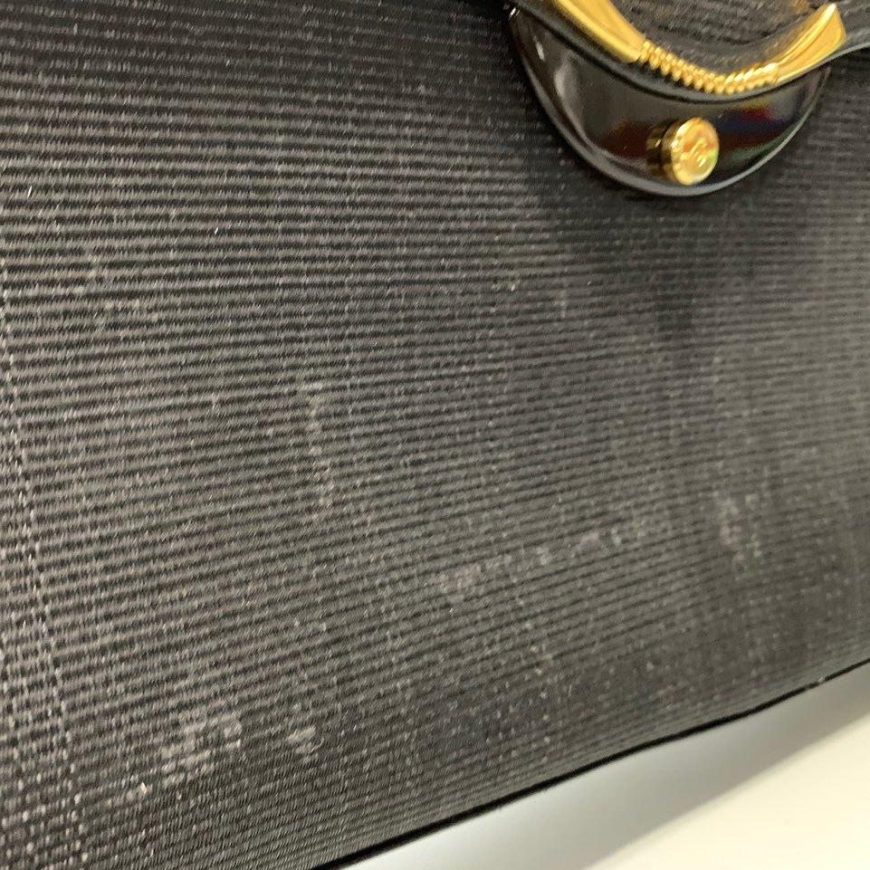 B118M09 COMTESSE/コンテス 本革ホースヘアー レザー クラッチ セカンドバッグ パーティーバッグ ブラック_画像6