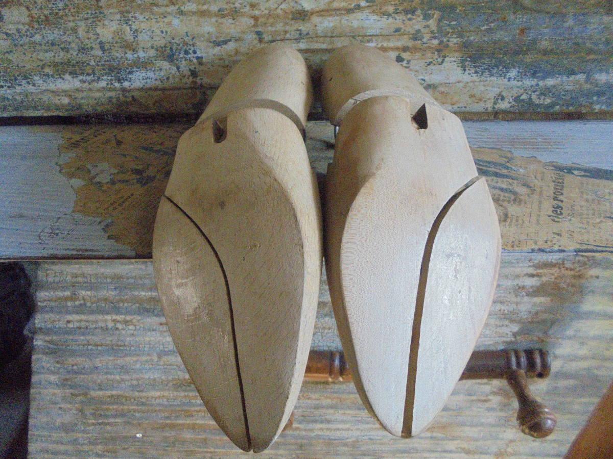 【フランス蚤の市無垢材のシューキーパー】靴型靴職人オールドチークヴィンテージ古着古道具アンティークインテリアインダストリアル骨董 _画像4