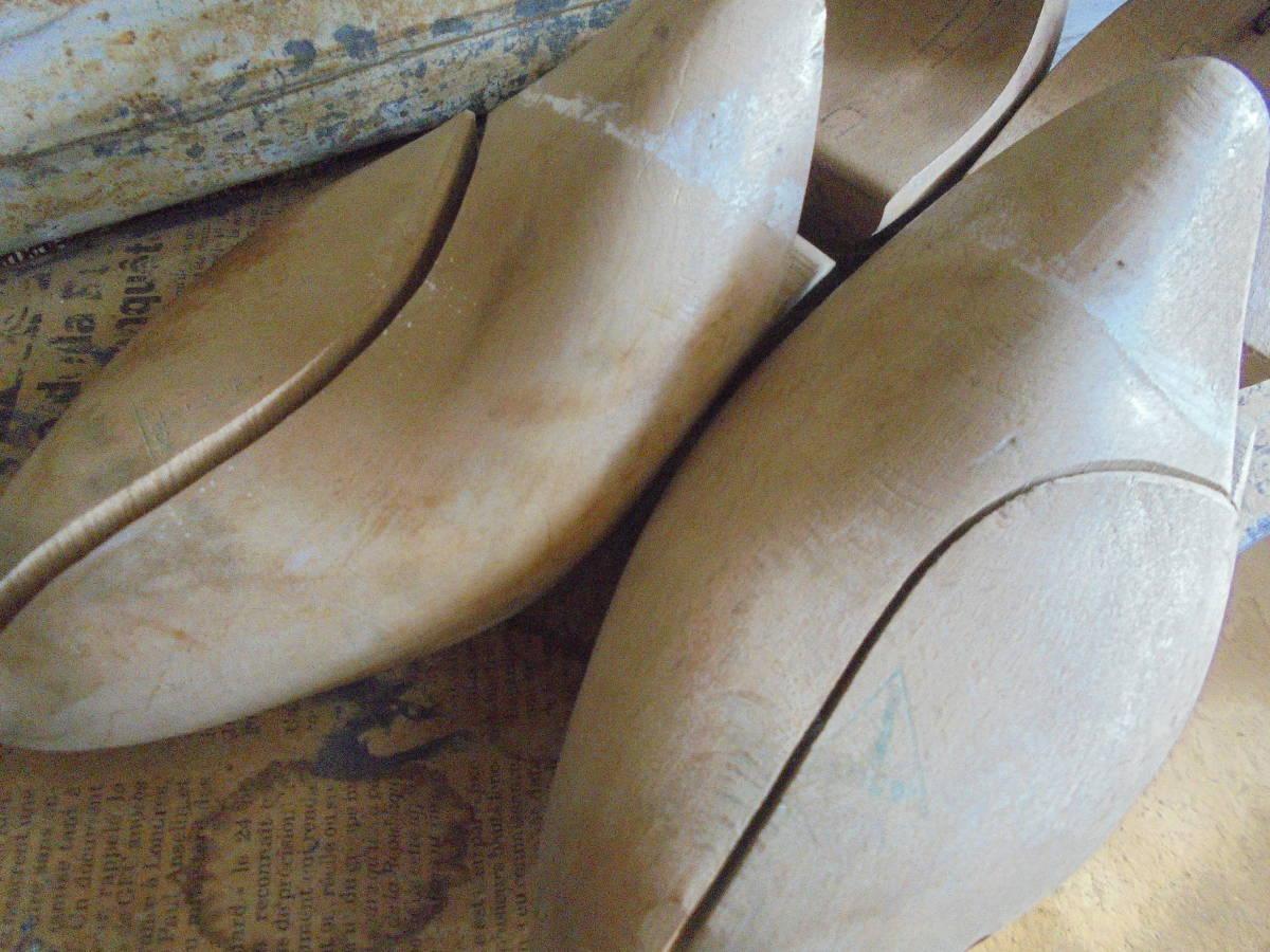 【フランス蚤の市無垢材のシューキーパー】靴型靴職人オールドチークヴィンテージ古着古道具アンティークインテリアインダストリアル骨董 _画像9