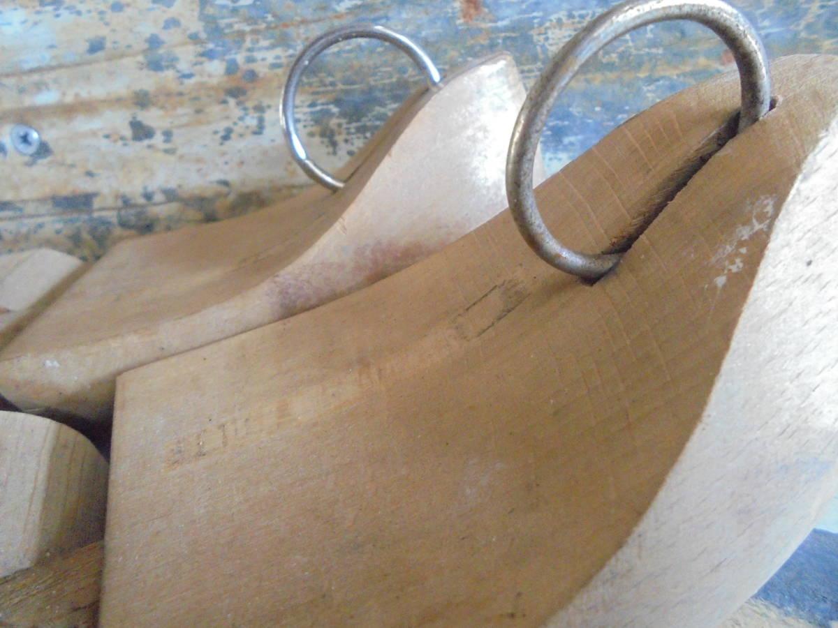 【フランス蚤の市無垢材のシューキーパー】靴型靴職人オールドチークヴィンテージ古着古道具アンティークインテリアインダストリアル骨董 _画像10