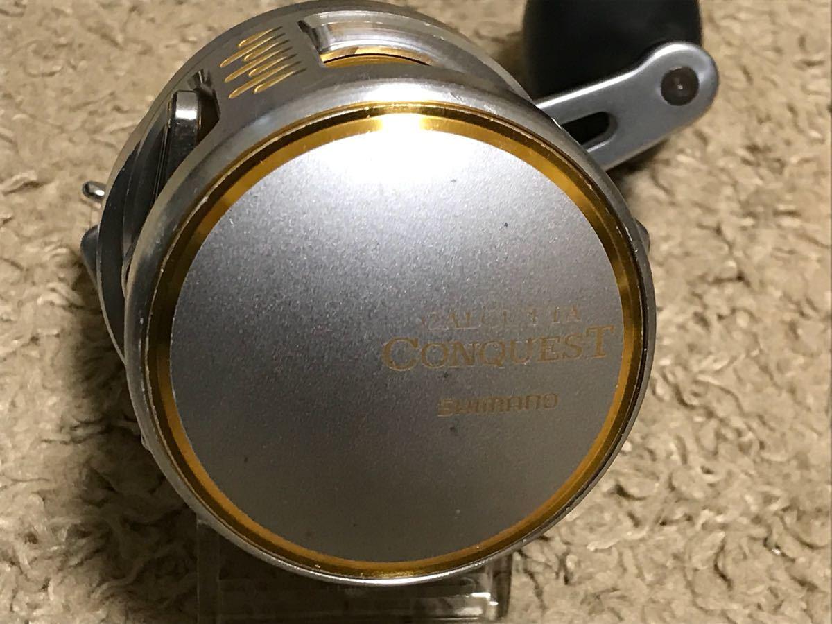 シマノ カルカッタ コンクエスト300 タイプJ HG ハイギア 中古品 ジギング_画像4