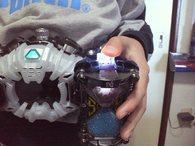 【即決】 発光 DXゲイツリバイブライドウォッチ リペイント 仮面ライダージオウ LED改造 _