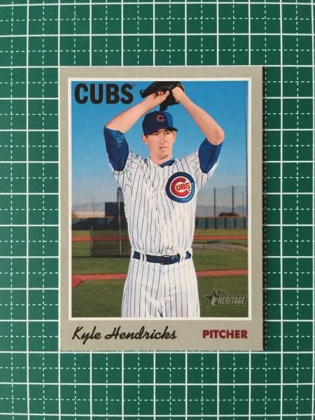 2019 Topps Heritage #46 Kyle Hendricks Chicago Cubs Baseball Card