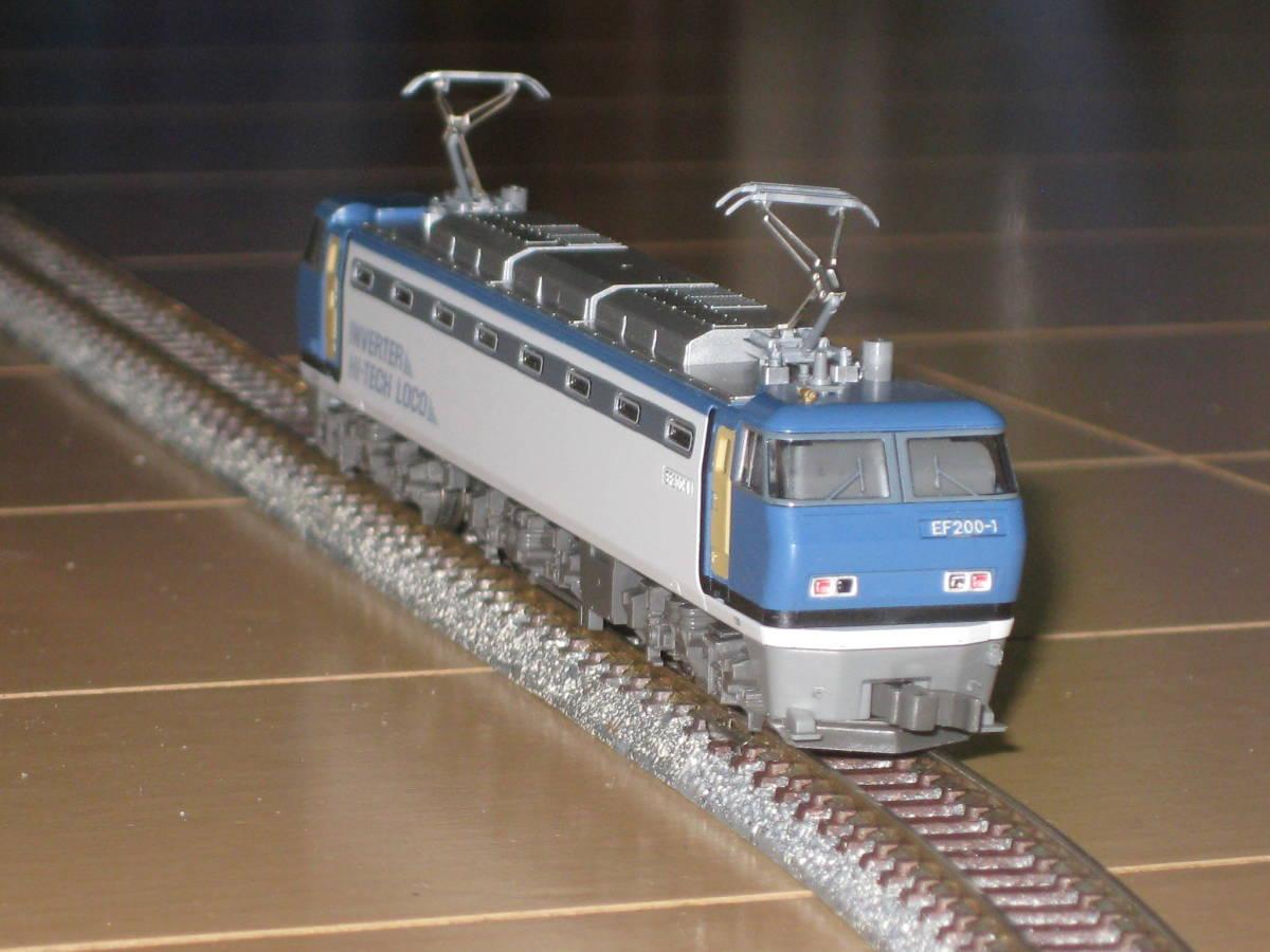 1) Nゲージ カトー 3018 EF200 電気機関車 シングルアームパンタ 動作確認済。美品。_画像2