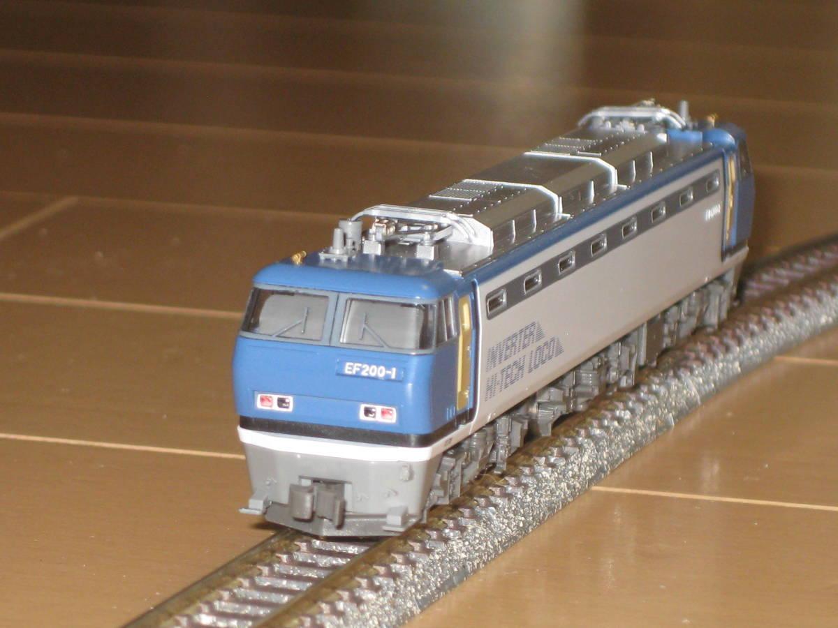 1) Nゲージ カトー 3018 EF200 電気機関車 シングルアームパンタ 動作確認済。美品。_画像4
