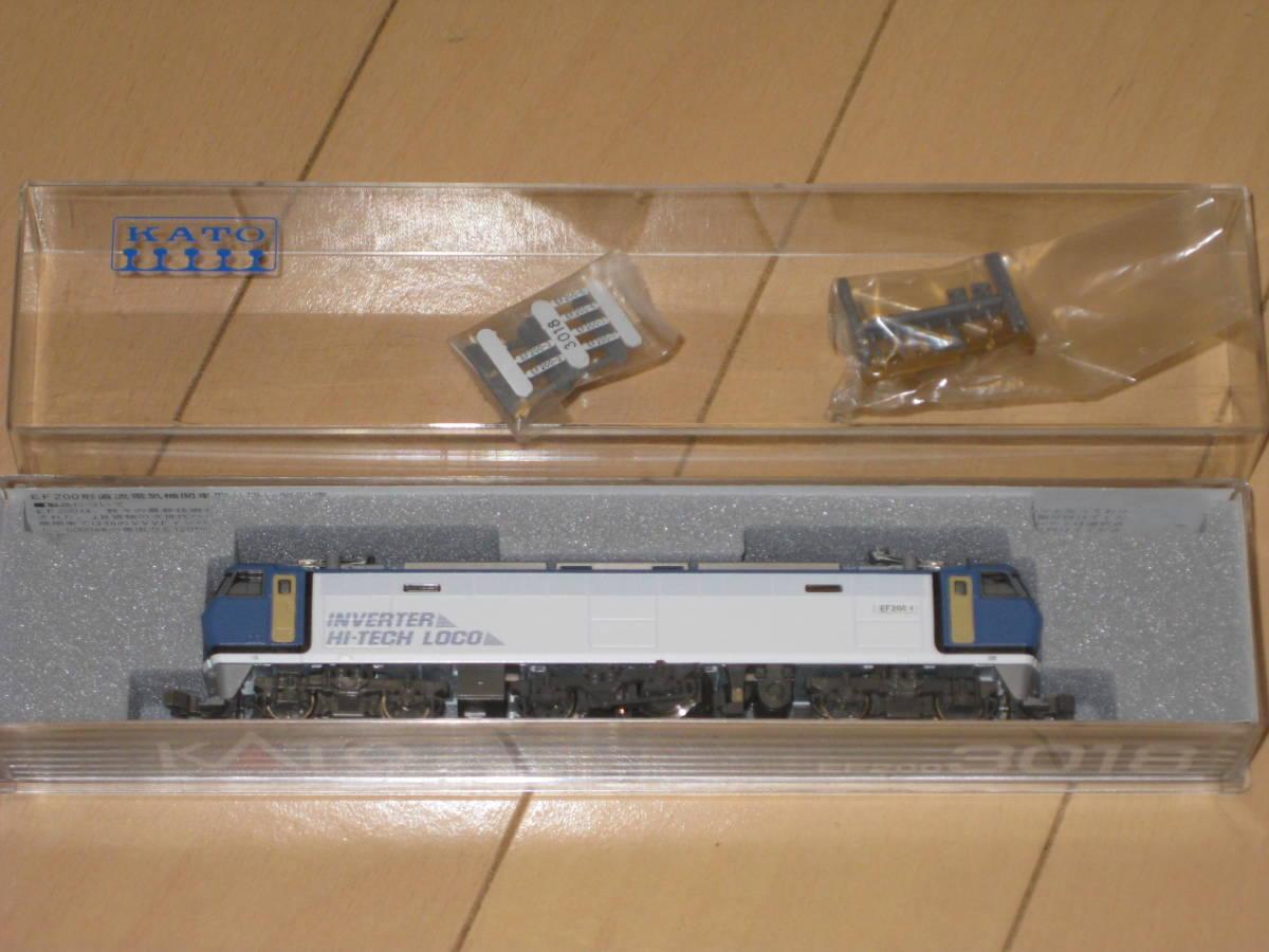 1) Nゲージ カトー 3018 EF200 電気機関車 シングルアームパンタ 動作確認済。美品。_画像6