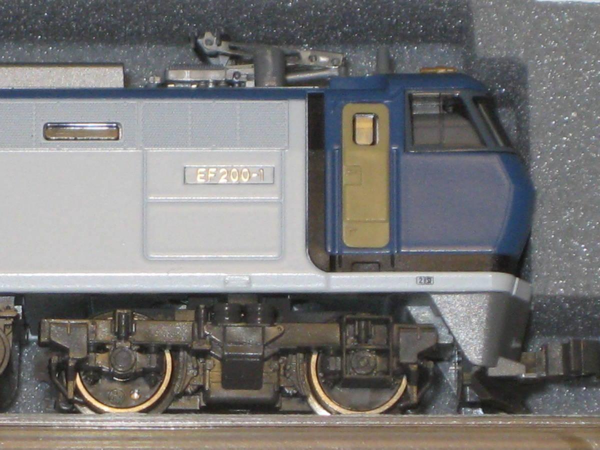1) Nゲージ カトー 3018 EF200 電気機関車 シングルアームパンタ 動作確認済。美品。_画像9