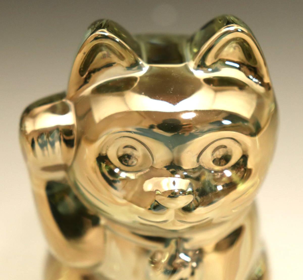 バカラ (BACCARAT) 招き猫 ゴールド ラッキーキャット 金 超美品 3_画像5
