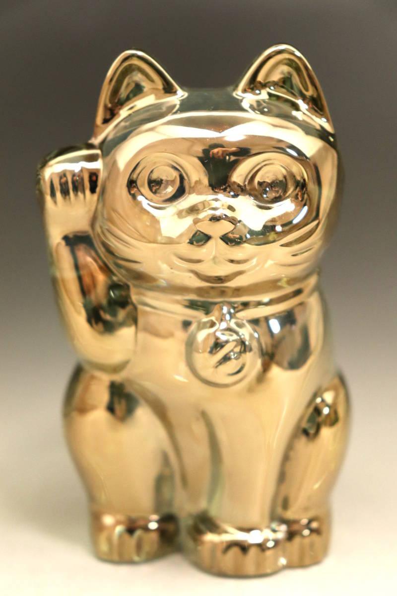 バカラ (BACCARAT) 招き猫 ゴールド ラッキーキャット 金 超美品 3