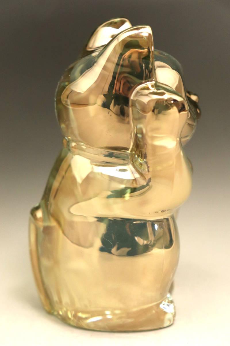 バカラ (BACCARAT) 招き猫 ゴールド ラッキーキャット 金 超美品 3_画像2