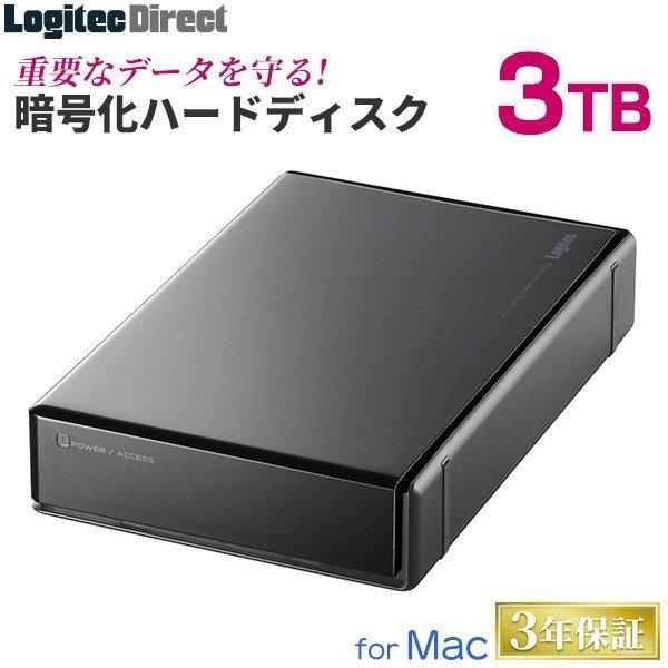 新品 ロジテック ■外付けHDD 3TB ハードウェア暗号化ハードディスク セキュリティー Mac用 WD Red搭載 USB3.1(Gen1) ■LHD-EN30U3BSMR