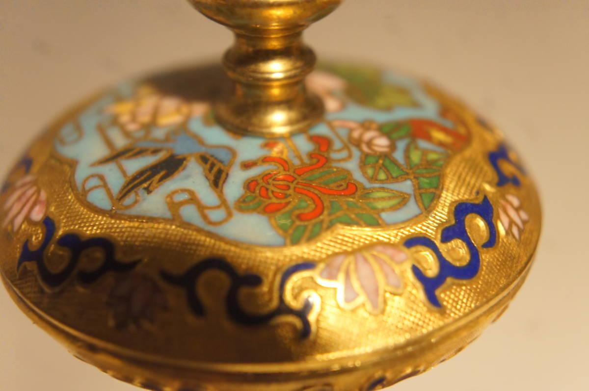 フランス製 ジャッピー 1880年代 手書きオールドセーブル磁器 総オルモルブロンズ装飾  時打ち置き時計  振り子式 手巻き可動品_画像6