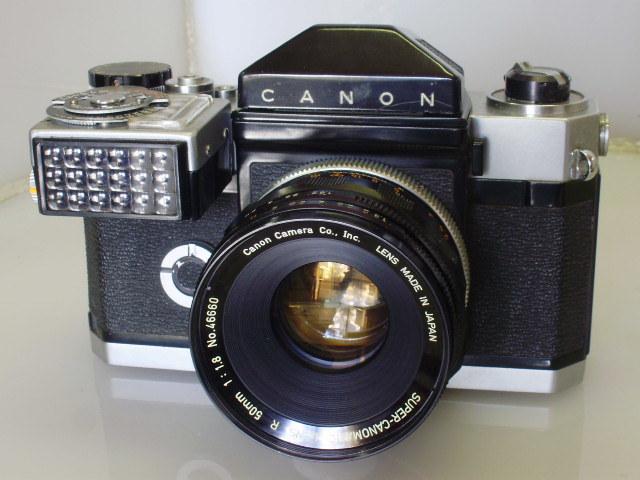 キャノンフレックスR 50mmF1,8 専用露出計付き