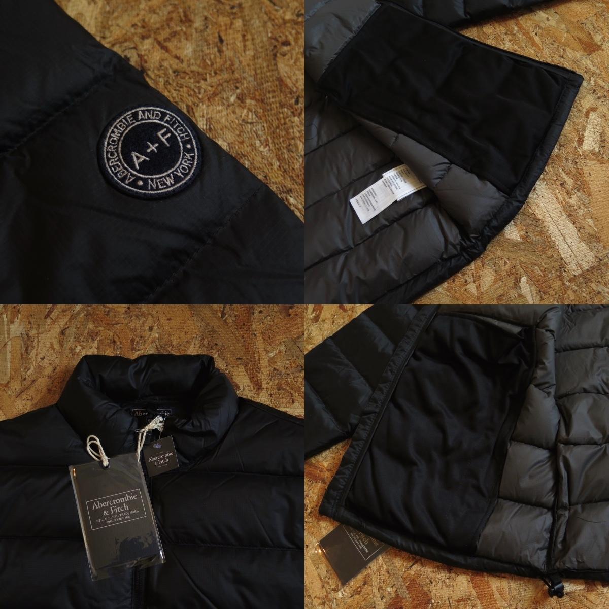 新品☆本物 NY購入 Abercrombie & Fitch Light Weight Down Jacket Mサイズ BLACK/黒 アバクロ ライトウェイト ダウンジャケット_画像7