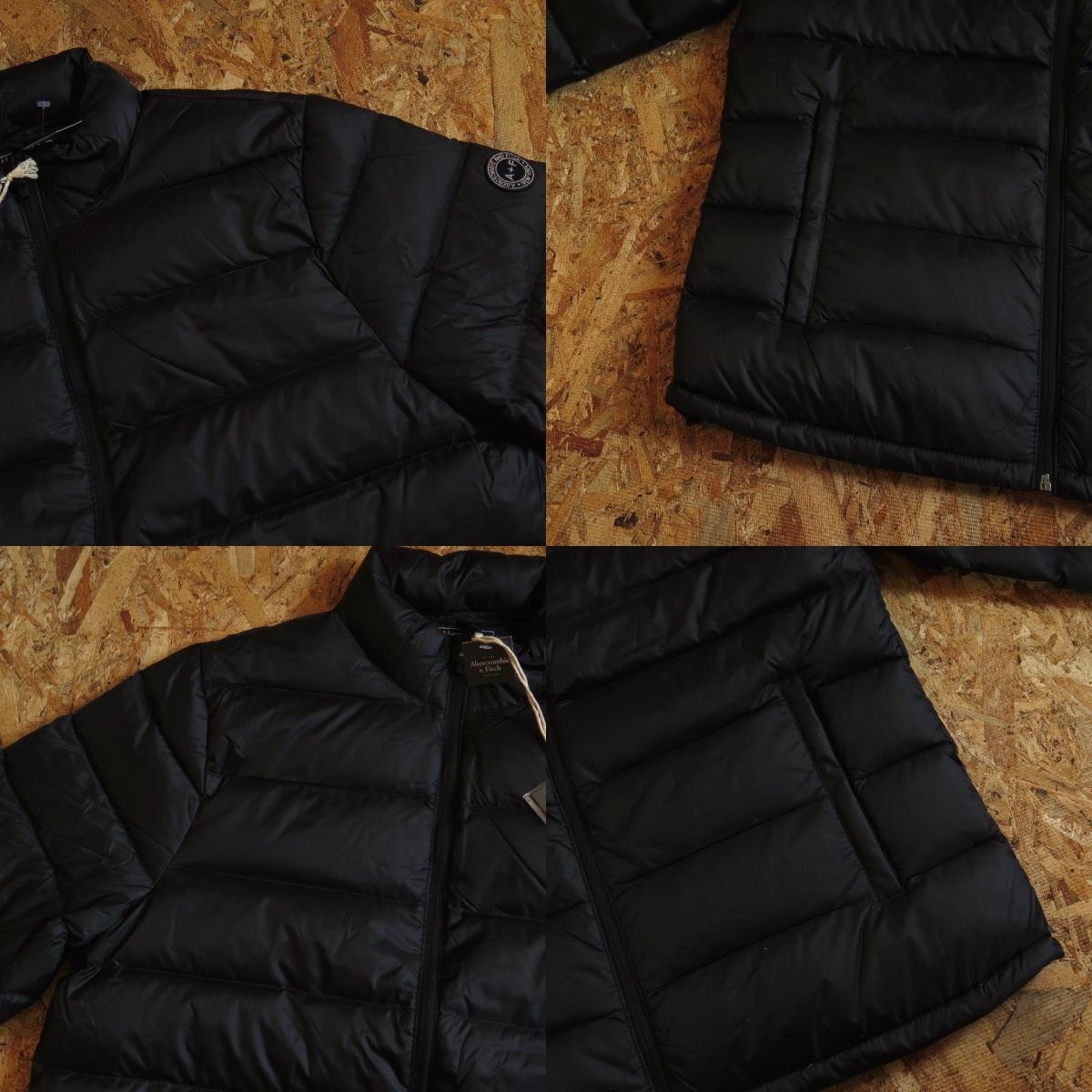 新品☆本物 NY購入 Abercrombie & Fitch Light Weight Down Jacket Mサイズ BLACK/黒 アバクロ ライトウェイト ダウンジャケット_画像6