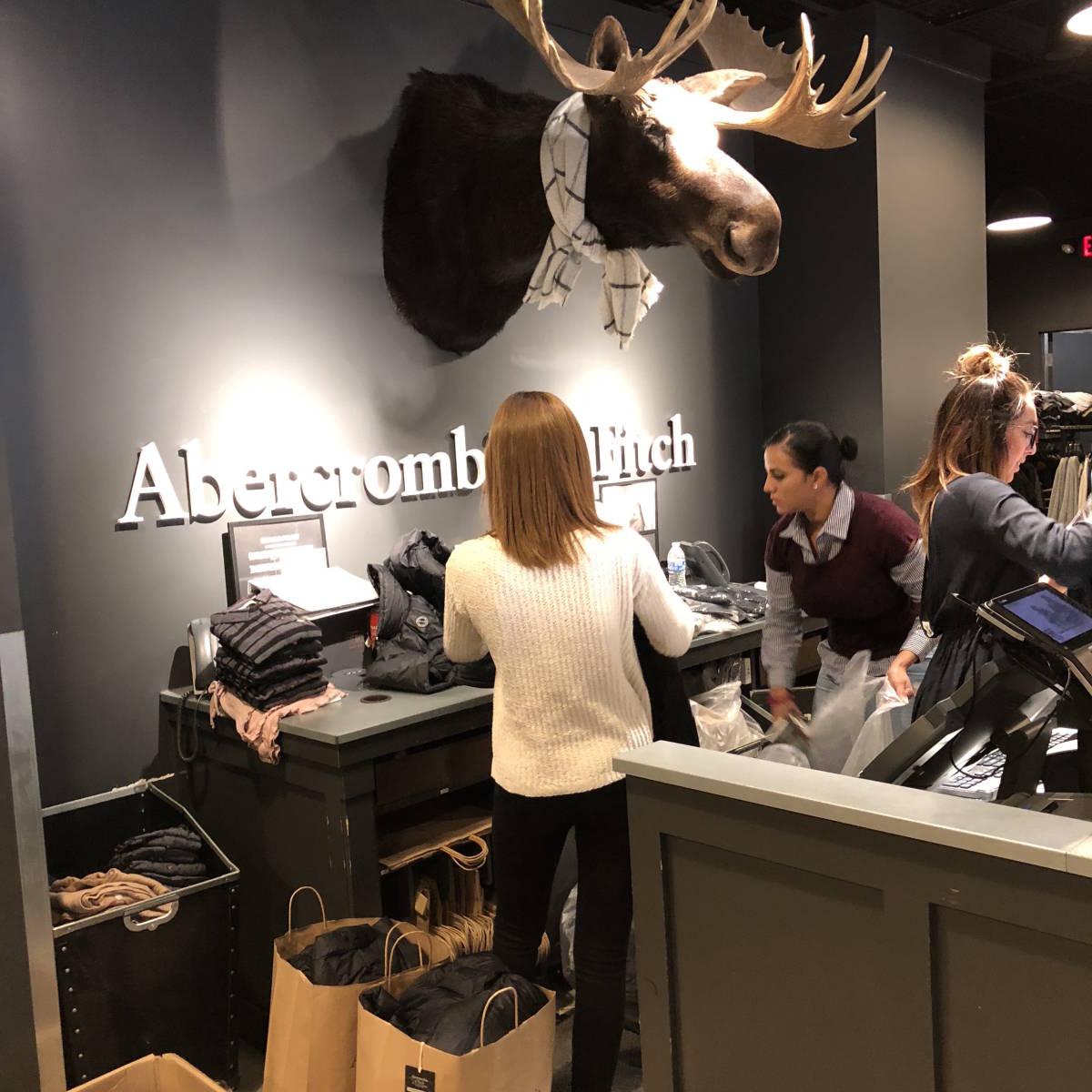 新品☆本物 NY購入 Abercrombie & Fitch Light Weight Down Jacket Mサイズ BLACK/黒 アバクロ ライトウェイト ダウンジャケット_画像10