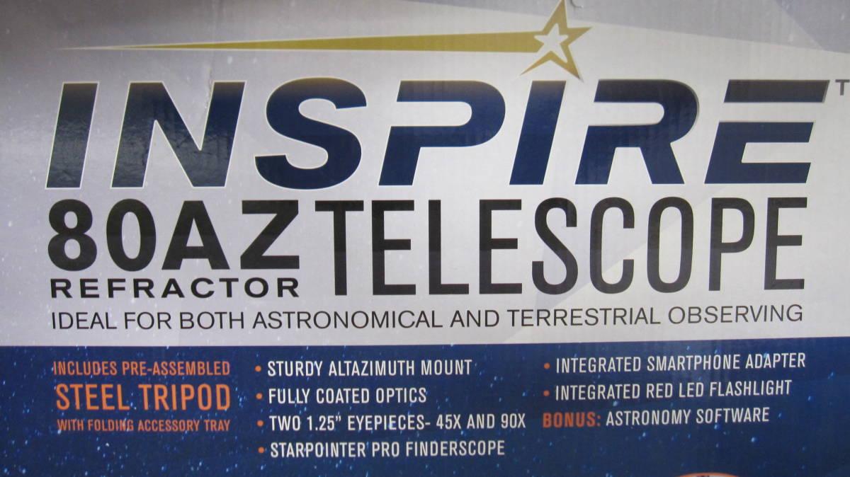 Celestron セレストロン インスパイア 80AZ 天体望遠鏡 外箱ダメージ有 未使用品_画像7
