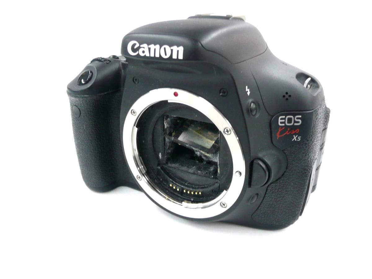 【ジャンク カメラ】 Canon EOS Kiss X5 ボディ キヤノン (J497M)
