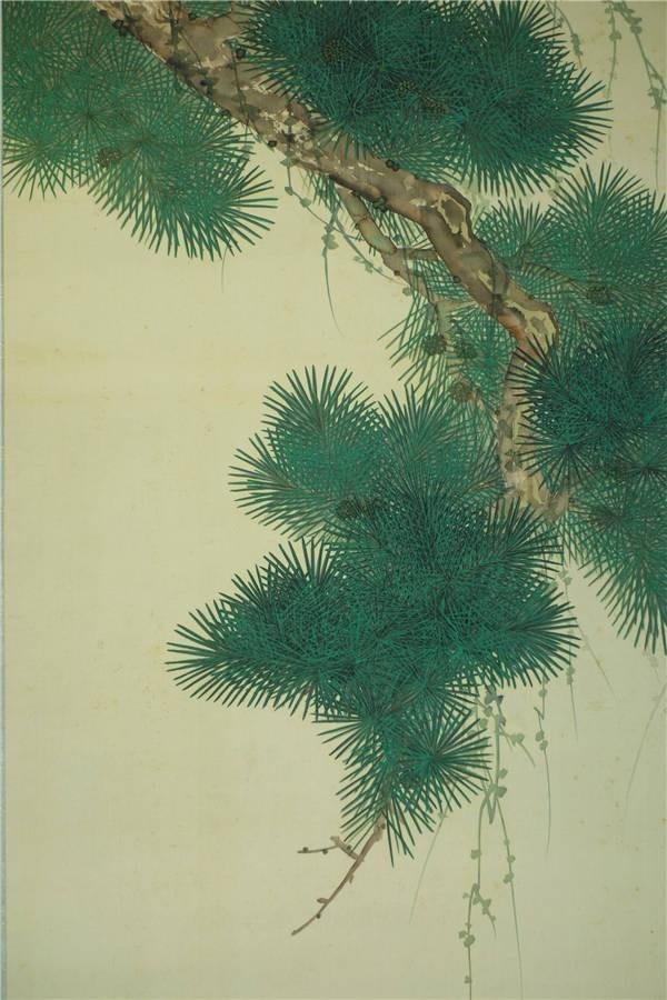 【真作】【華】佳品 京都の日本画家 望月玉成 『松鯉図』 二重箱 共箱 エ3318_画像4