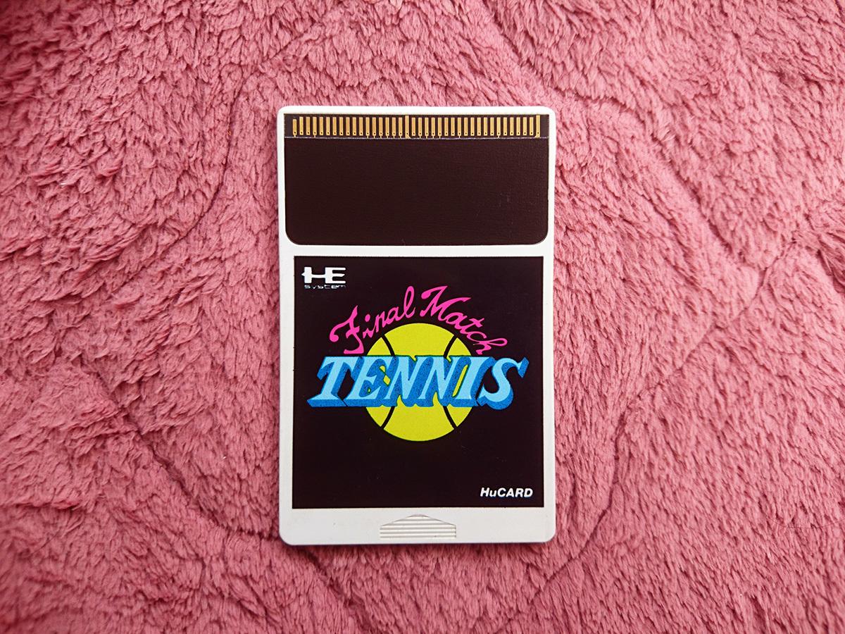 匿名取引 PCエンジン ファイナルマッチテニス Huカード ゲームソフト 中古 昭和レトロ PCE final match tennis HuCARD human テニス_画像1
