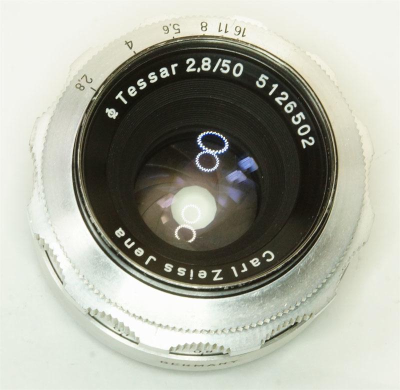 ドイツ製 Carl Zeiss Jena Tessar 2.8/50 絞羽12枚 M42 513RNB-502 フィルター径35.5mm Q1 シルバー_画像4