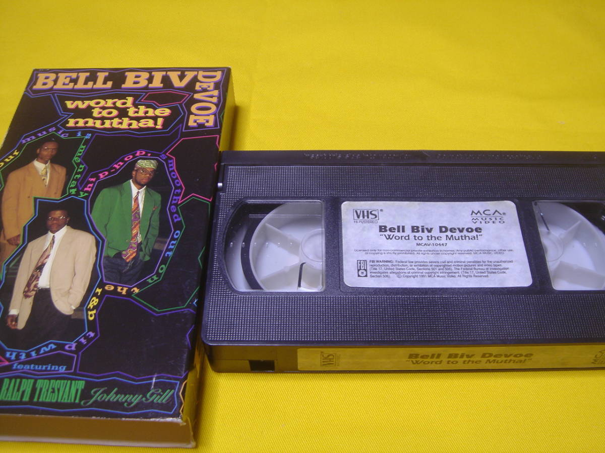 VHSビデオテープ ☆ BELL BIV DEVOE/ Word to the Mutha ! (中古 返品不可ジャンク)_画像3