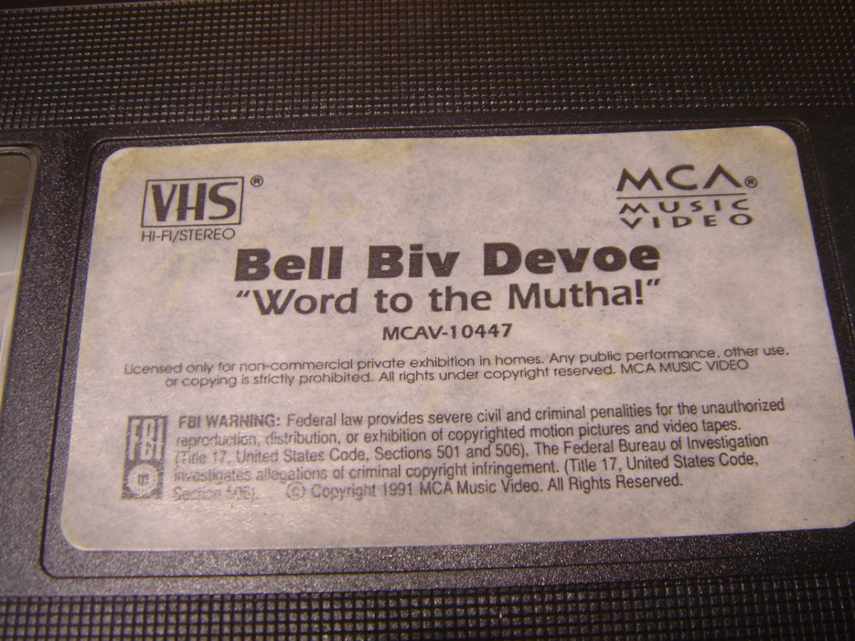 VHSビデオテープ ☆ BELL BIV DEVOE/ Word to the Mutha ! (中古 返品不可ジャンク)_画像4
