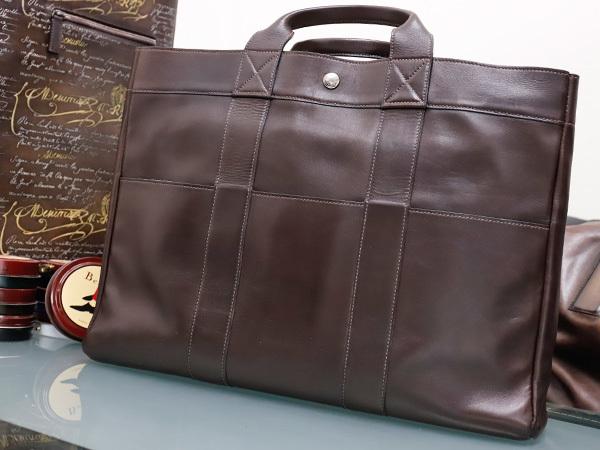 エルメス HERMES 完売 A4対応モデル フルレザー フールトゥMM エヴァーカーフ メンズ書類ビジネスバッグ ブリーフケース トート 本物 正規_画像2