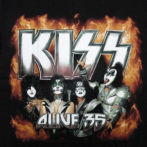 ◯【新品】KISS キッス 半袖Tシャツ ロックバンド ヘビーメタル ヘビメタ 両面プリント 黒 メンズ Sサイズ ■管理番号LBT172_画像2
