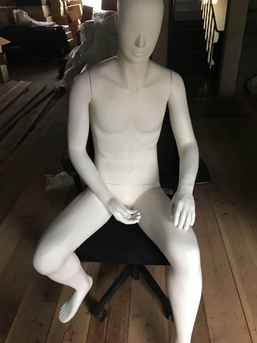 マネキン ① 男性 腕 可動式 展示 ディスプレイ  腕 脚 取り外し可 メンズ オークション フリマ