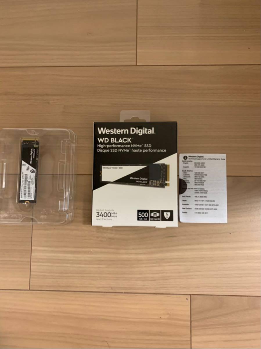 Western Digital WD BLACK SSD 500G 美品 購入レシートコピー付き _画像3