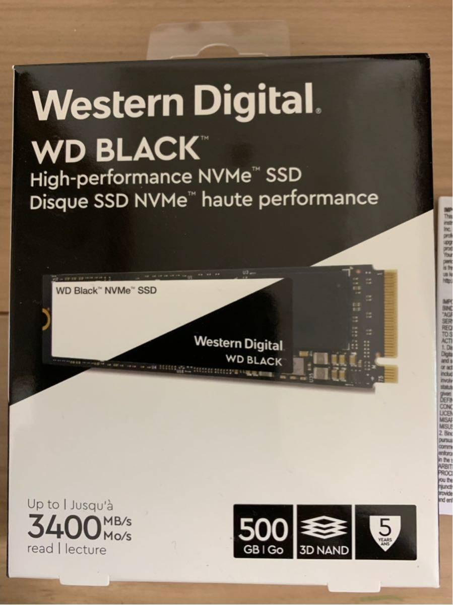 Western Digital WD BLACK SSD 500G 美品 購入レシートコピー付き _画像2