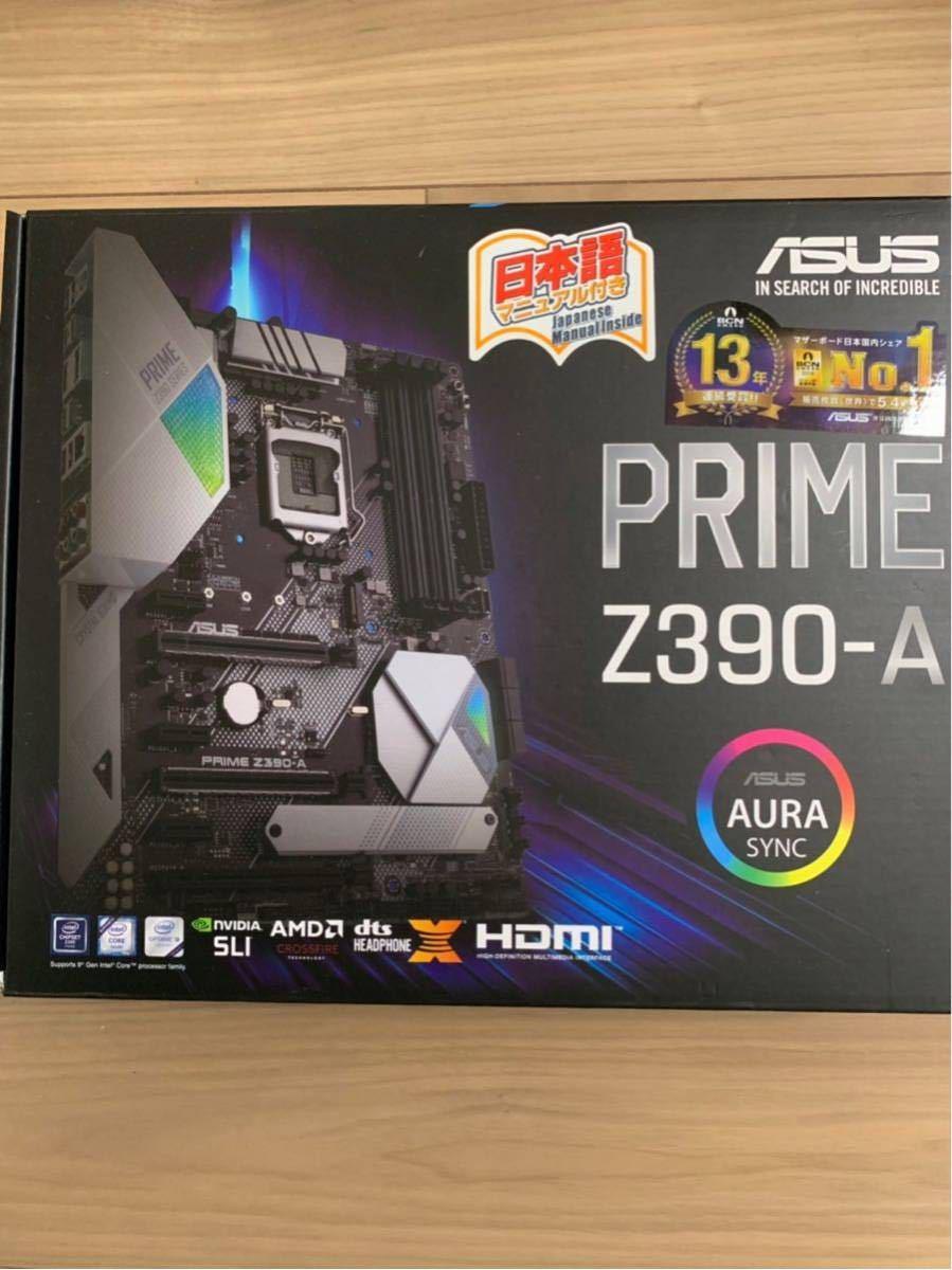 ASUS PRIME Z390-A ATX  購入レーシート付き。 中古美品 購入レシート付き
