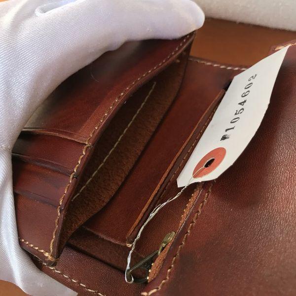 【アンティークブラウン】ターコイズ イタリアンレザー 新品 未使用 送料無料 メンズ 財布 二つ折り コンチョ 本革 革 牛革 ヌメ革 ミドル _画像8
