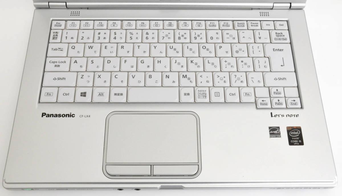 極上品 SSD+メモリ8GB Panasonic CF-LX4 Corei5-5300U 2.3GHz / SSD256GB / マルチ / 無線 / 使用時間7170 / Win10Pro64_画像4