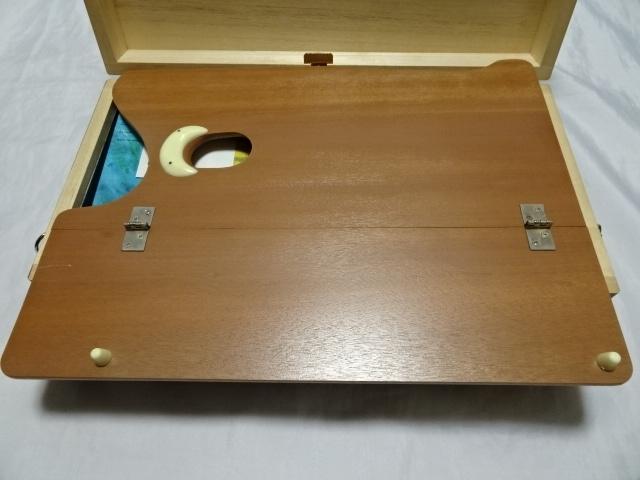 アサヒ絵具 kusakabeブランド 油絵スターターセット 絵の具12色 木箱入り 中古美品_画像5